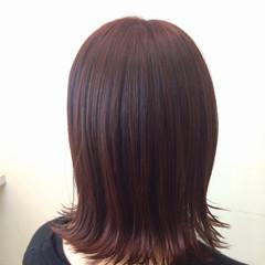 秋 ミディアム 暗髪 ストリート ヘアスタイルや髪型の写真・画像
