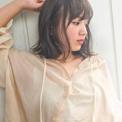 大人かわいい 前髪あり 透明感 デート ヘアスタイルや髪型の写真・画像