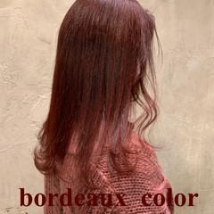ストリート セミロング ラベンダーピンク アプリコットオレンジ ヘアスタイルや髪型の写真・画像