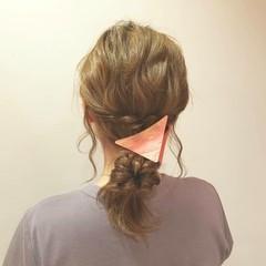 ショート くるりんぱ ミディアム 簡単ヘアアレンジ ヘアスタイルや髪型の写真・画像