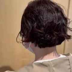 パーマ ボブ 無造作パーマ 大人可愛い ヘアスタイルや髪型の写真・画像