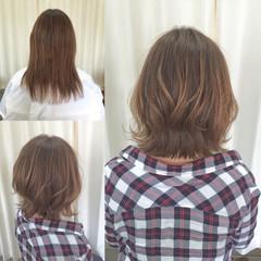 ブラントカット 大人女子 ボブ 外ハネ ヘアスタイルや髪型の写真・画像
