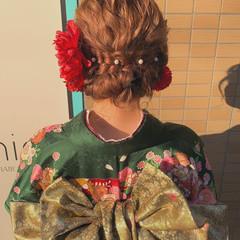 成人式カラー ガーリー ロング 成人式ヘアメイク着付け ヘアスタイルや髪型の写真・画像