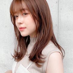 レイヤースタイル ナチュラル デジタルパーマ モテ髪 ヘアスタイルや髪型の写真・画像