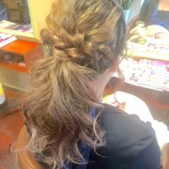 パーティ ロング 編み込み ヘアアレンジ ヘアスタイルや髪型の写真・画像