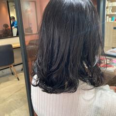 デジタルパーマ ゆるふわパーマ デート フェミニン ヘアスタイルや髪型の写真・画像