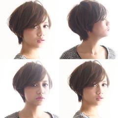 外国人風 ナチュラル ショートボブ ショート ヘアスタイルや髪型の写真・画像