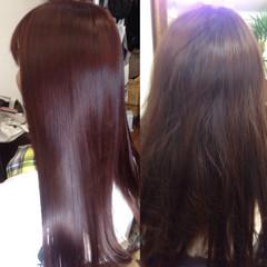 暗髪 パーマ ロング ブラウン ヘアスタイルや髪型の写真・画像