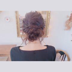 ピンク ブライダル 波ウェーブ 外国人風 ヘアスタイルや髪型の写真・画像