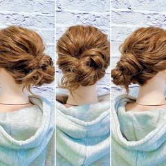 ヘアセット フェミニン ロング ヘアアレンジ ヘアスタイルや髪型の写真・画像