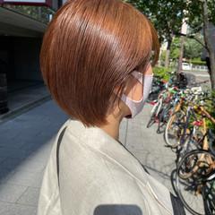 ショートボブ ミニボブ ショートヘア ナチュラル ヘアスタイルや髪型の写真・画像
