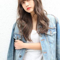イルミナカラー 簡単ヘアアレンジ ナチュラル ロング ヘアスタイルや髪型の写真・画像