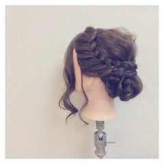 セミロング ショート 結婚式 ヘアアレンジ ヘアスタイルや髪型の写真・画像