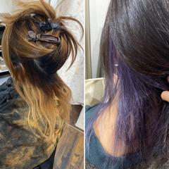 ナチュラルグラデーション インナーカラー エレガント 外国人風カラー ヘアスタイルや髪型の写真・画像