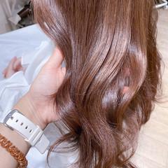 透明感 ピンクアッシュ 透明感カラー ピンクベージュ ヘアスタイルや髪型の写真・画像