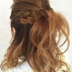 ナチュラル モテ髪 フェミニン 春 ヘアスタイルや髪型の写真・画像
