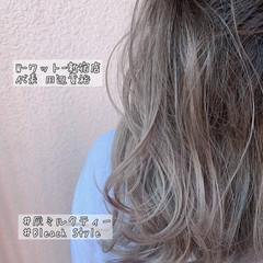 ナチュラル グラデーションカラー ハイライト インナーカラーグレー ヘアスタイルや髪型の写真・画像