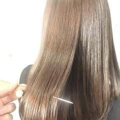 ナチュラル セミロング 縮毛矯正 髪質改善トリートメント ヘアスタイルや髪型の写真・画像
