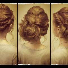 男ウケ 大人かわいい 大人女子 編み込み ヘアスタイルや髪型の写真・画像