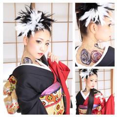 ヘアアレンジ 和装 成人式 着物 ヘアスタイルや髪型の写真・画像