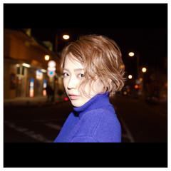 パーマ ショート アッシュ ストリート ヘアスタイルや髪型の写真・画像