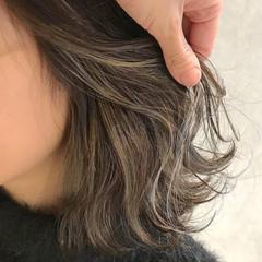 ガーリー ミディアム インナーカラー ダブルカラー ヘアスタイルや髪型の写真・画像