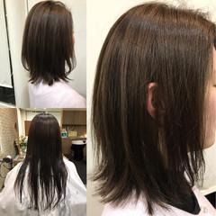 アッシュ 色気 フェミニン ナチュラル ヘアスタイルや髪型の写真・画像