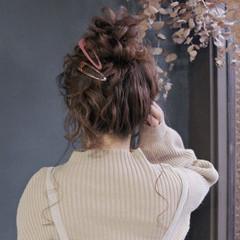 ヘアセット ロング フェミニン ヘアアレンジ ヘアスタイルや髪型の写真・画像