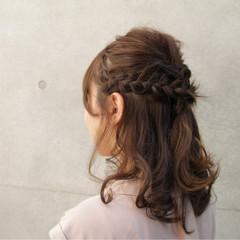 ヘアアレンジ 編み込み 大人女子 フェミニン ヘアスタイルや髪型の写真・画像
