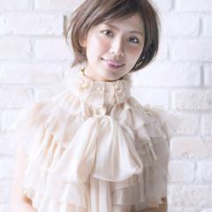 ナチュラル ショート 大人女子 大人かわいい ヘアスタイルや髪型の写真・画像