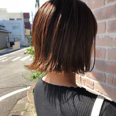 ナチュラル 切りっぱなしボブ ヘアアレンジ 簡単ヘアアレンジ ヘアスタイルや髪型の写真・画像