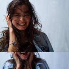 パーマ アッシュ ハイライト コンサバ ヘアスタイルや髪型の写真・画像