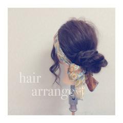 結婚式 二次会 外国人風 簡単ヘアアレンジ ヘアスタイルや髪型の写真・画像