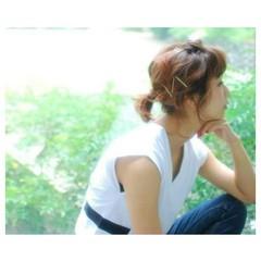 ヘアアレンジ 大人かわいい 簡単ヘアアレンジ ヘアピン ヘアスタイルや髪型の写真・画像