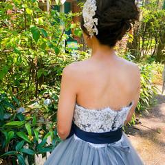 結婚式 アップスタイル ブライダル アップ ヘアスタイルや髪型の写真・画像