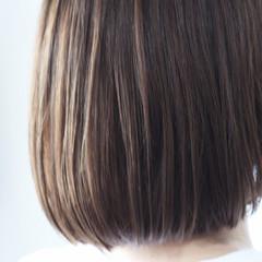 アッシュブラウン グレージュ ショコラブラウン ナチュラル ヘアスタイルや髪型の写真・画像