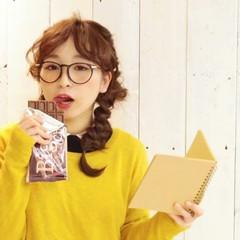 バレンタイン ガーリー ヘアアレンジ センターパート ヘアスタイルや髪型の写真・画像