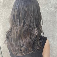 ベージュ アディクシーカラー グレージュ セミロング ヘアスタイルや髪型の写真・画像