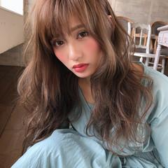 セミロング 前髪 ハイライト コンサバ ヘアスタイルや髪型の写真・画像