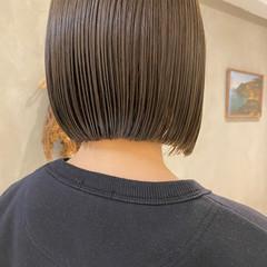 ナチュラル ミニボブ 切りっぱなしボブ ボブ ヘアスタイルや髪型の写真・画像