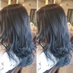 ミディアム グラデーションカラー ストリート ブルージュ ヘアスタイルや髪型の写真・画像