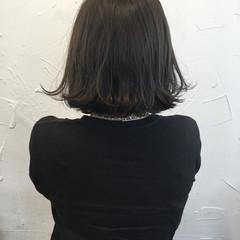 外国人風 モード アッシュ 黒髪 ヘアスタイルや髪型の写真・画像