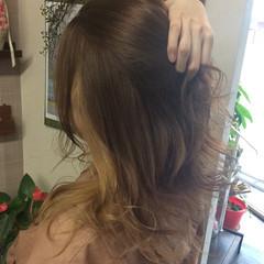 ダブルカラー #インナーカラー ガーリー セミロング ヘアスタイルや髪型の写真・画像