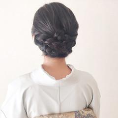 エレガント 結婚式ヘアアレンジ 結婚式 和装ヘア ヘアスタイルや髪型の写真・画像