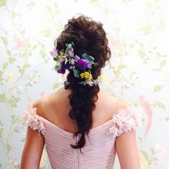 ヘアアレンジ 結婚式 セミロング ヘアメイク ヘアスタイルや髪型の写真・画像