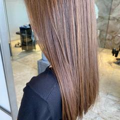 ナチュラル ロング ナチュラル可愛い オリーブブラウン ヘアスタイルや髪型の写真・画像