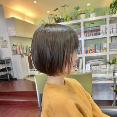 大人ショート ショートボブ ボブ ショートヘア ヘアスタイルや髪型の写真・画像