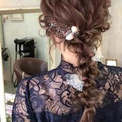 ヘアアレンジ 編み込み 上品 エレガント ヘアスタイルや髪型の写真・画像