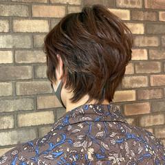 メンズ メンズショート マッシュウルフ メンズヘア ヘアスタイルや髪型の写真・画像