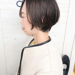 フェミニン ハンサムショート ショートヘア ショートボブ ヘアスタイルや髪型の写真・画像
